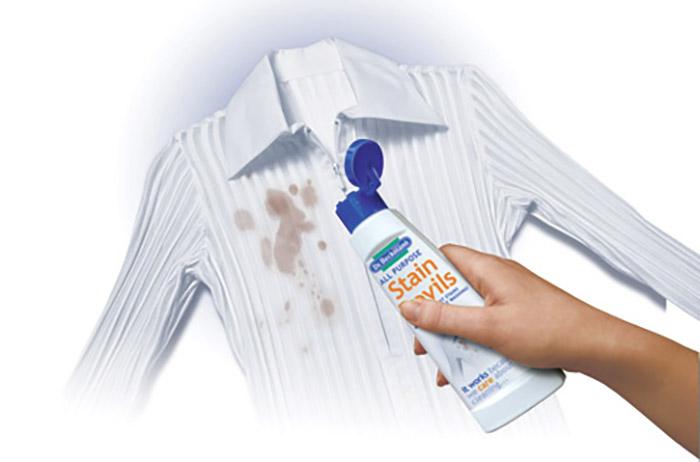 Очищение однотонной одежды