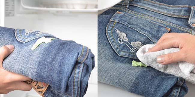 Очистка джинсов от жевательной резинки