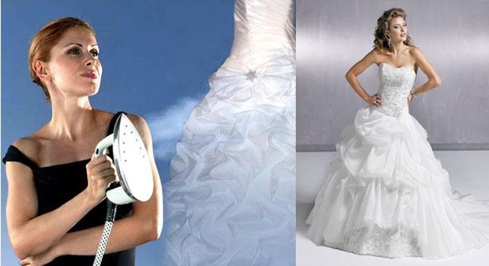 Глажка свадебного платья