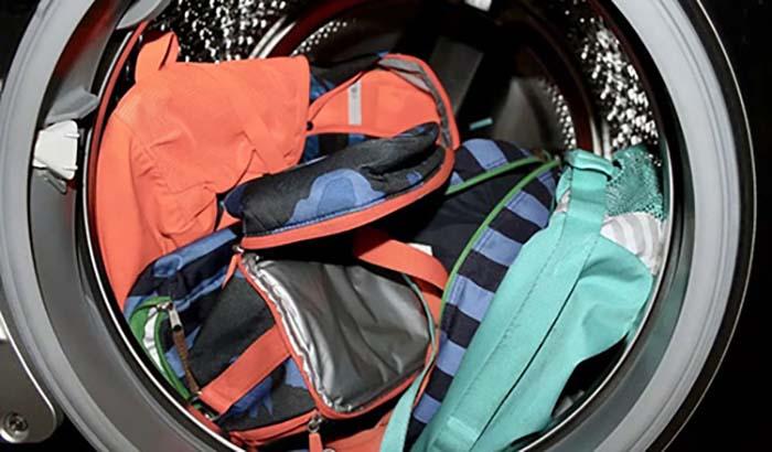 Стирка рюкзака в стиральной машине