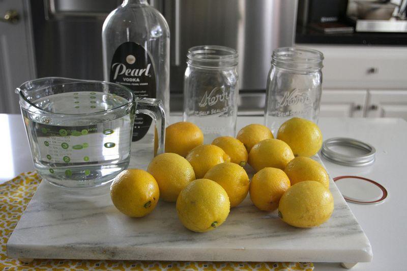 Лимон с водкой