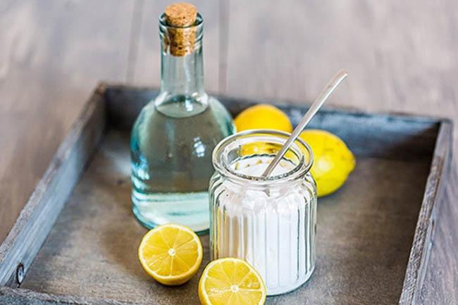 Лимон, соль, нашатырный спирт
