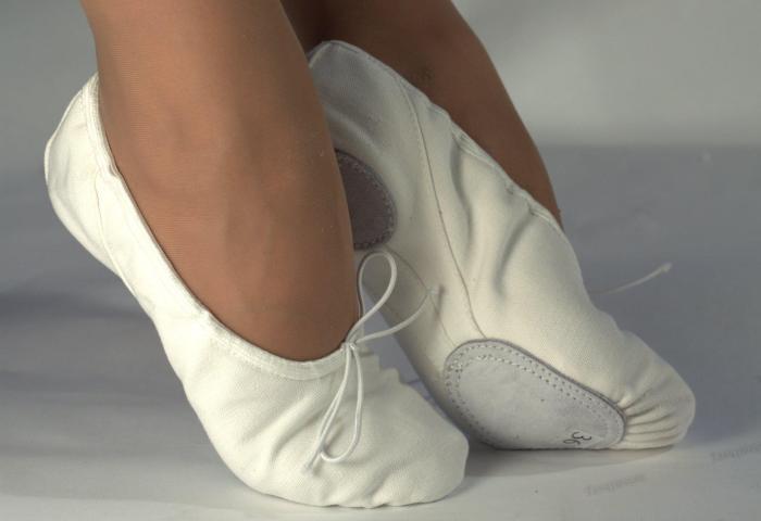 Белые танцевальные балетками